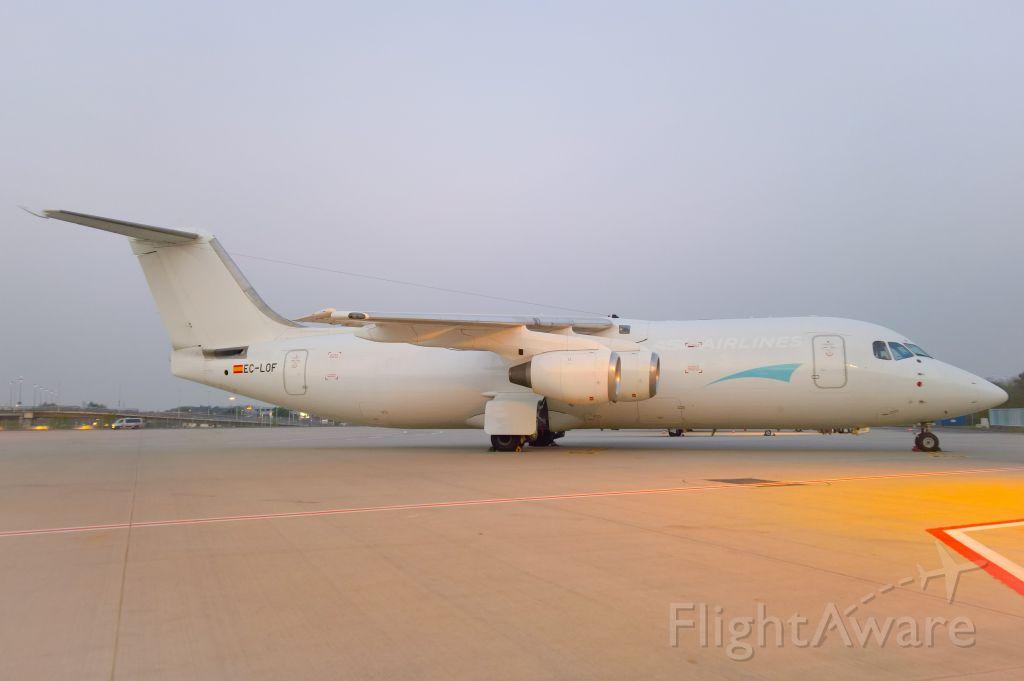 British Aerospace BAe-146-300 (EC-LOF) - Faded ASL Airlines titles