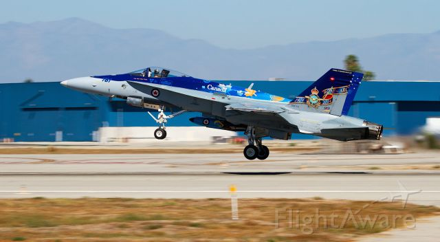 — — - Canadian F-18 taking off from klgb after a performance at catalina island