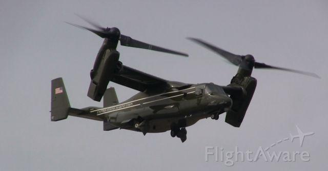 Bell V-22 Osprey — - One of Four Bell Boeing MV-22Bs taking off from Gander International Airport.