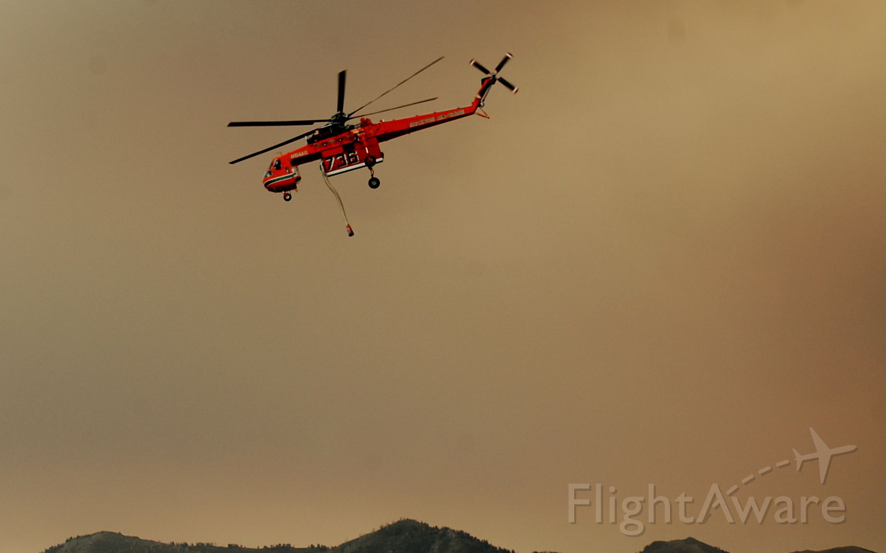 Sikorsky CH-54 Tarhe (N164AC) - 2012 Fire season on the Wasatch Mt.