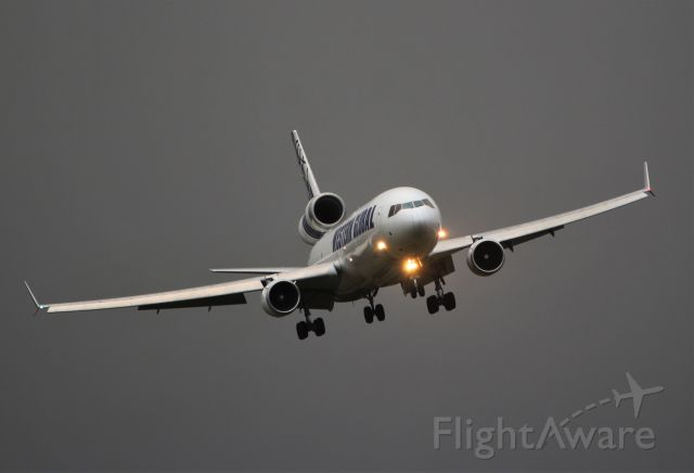 Boeing MD-11 (N546JN) - western global md-11f n546jn landing at shannon in stormy conditions 10/2/20.