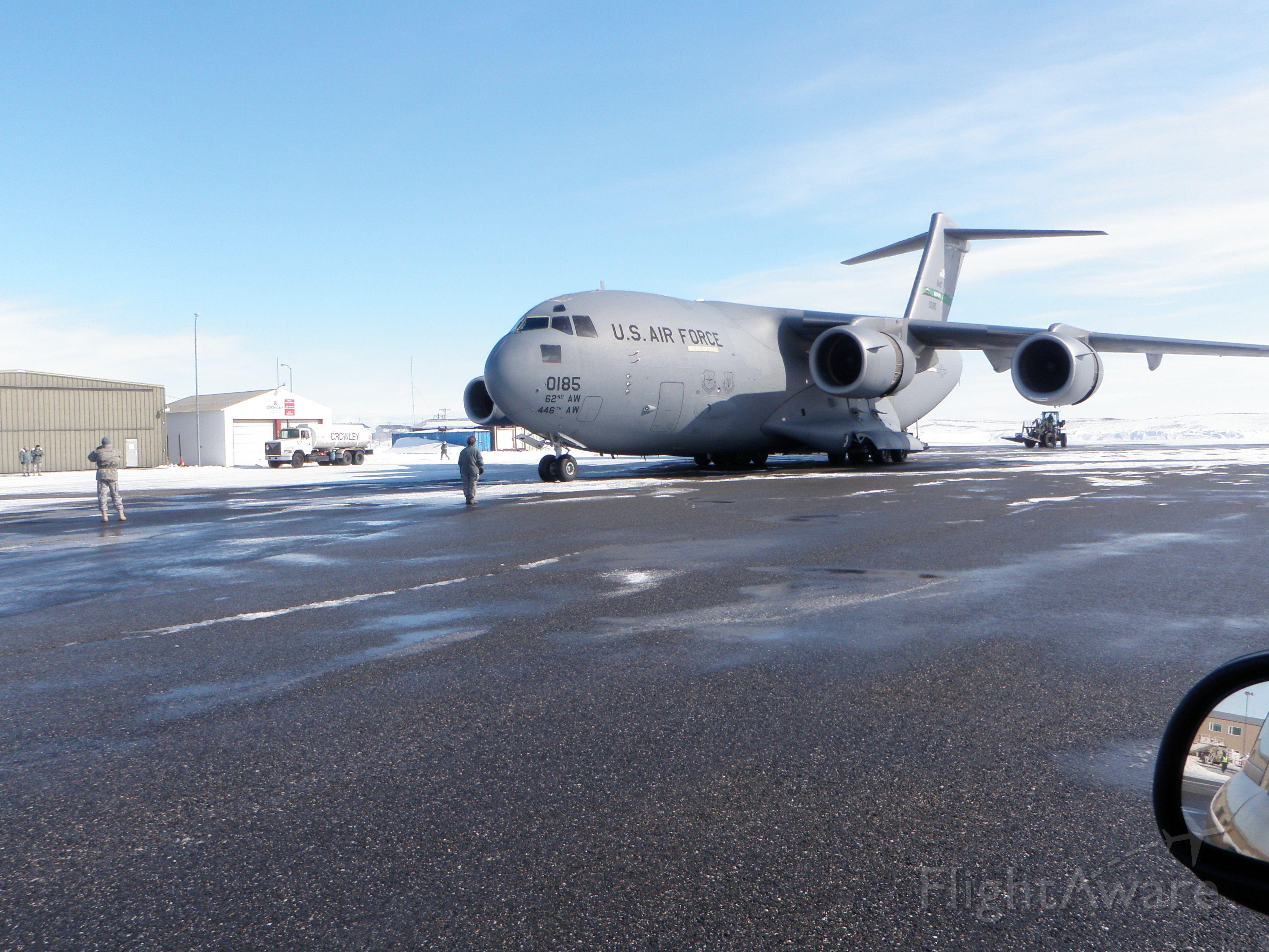 0185 — - C 17 on the tarmac in Kotzebue Alaska 04.18.2010