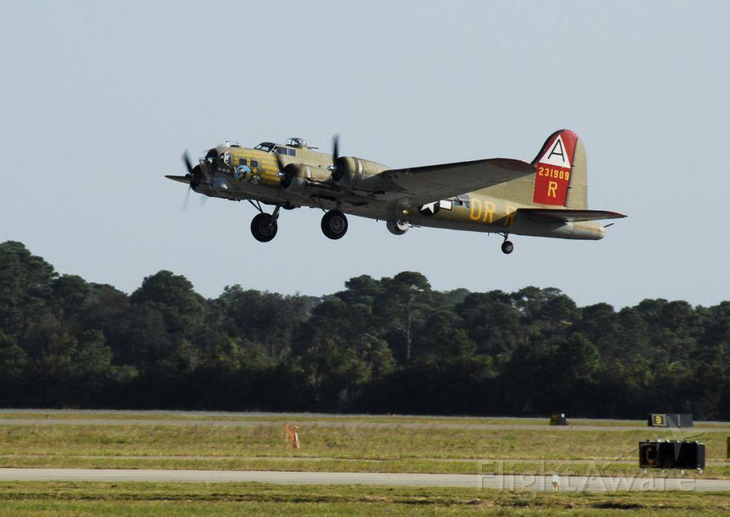 Boeing B-17 Flying Fortress — - B17 liftoff over Amelia Island, FL 2011