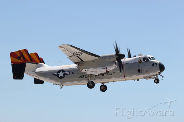 Grumman C-2 Greyhound — - taking off to pote avions  charles de gaulle
