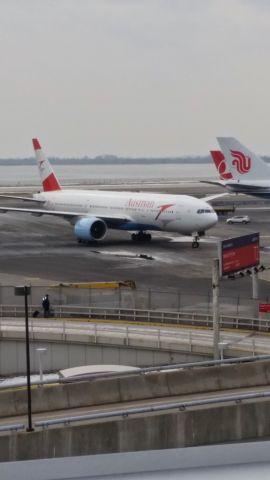 — — - Austrian 777-200ER arriving at JFK