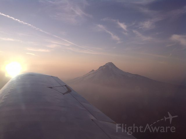 BELLANCA Viking (N86866) - Mt Hood on the way home (77S)from AOPA Fly In at Spokane.  Photo taken by Carl Chieffo from my Bellanca Cruisair.