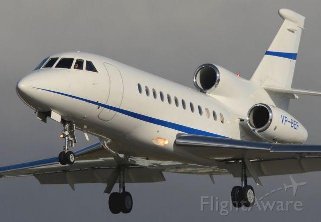 Dassault Falcon 900 (VP-BEF) - 07/02/2014<br />Landing 27
