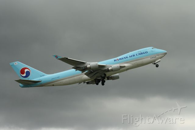 Boeing 747-400 (HL7601) - The first of the cattle filled 747