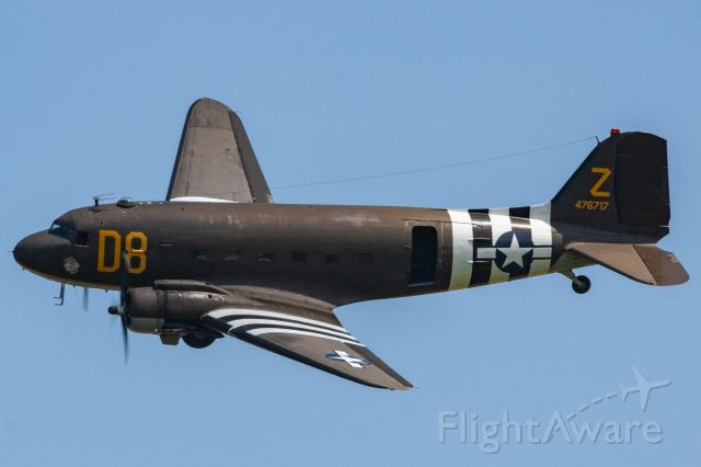 """Douglas DC-3 (N155J) - American Airpower Museum's Douglas C-47 Skytrain """"Second Chance"""" at the 2019 Greatest Show on Turf in Geneseo, NY"""