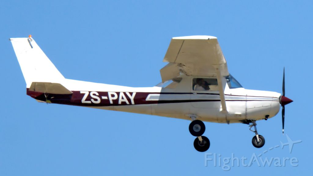 Cessna 152 (ZS-PAY) - Student performing touch-and-go onto RWY 26 at PLZ