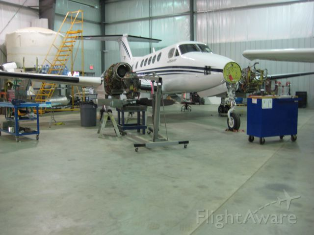 Beechcraft Super King Air 200 (C-FGWR) - King Air B200 getting a Hot Section Inspection and some other Maintenance