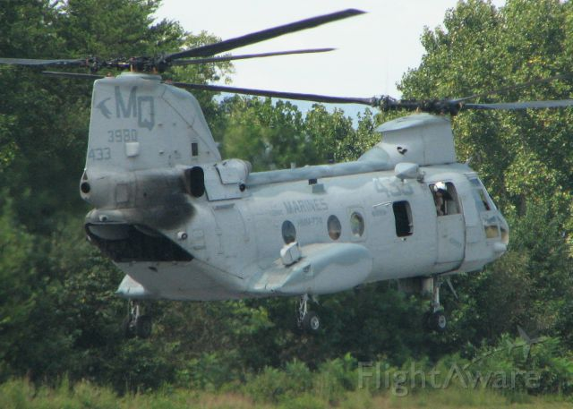3980MQ — - Another Sea Knight (from HMM-774) stopping by for fuel.