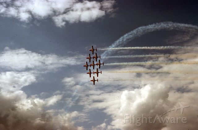 — — - Blast from the past.  Canadian Snow Birds in 1976 at Duluth Air Show