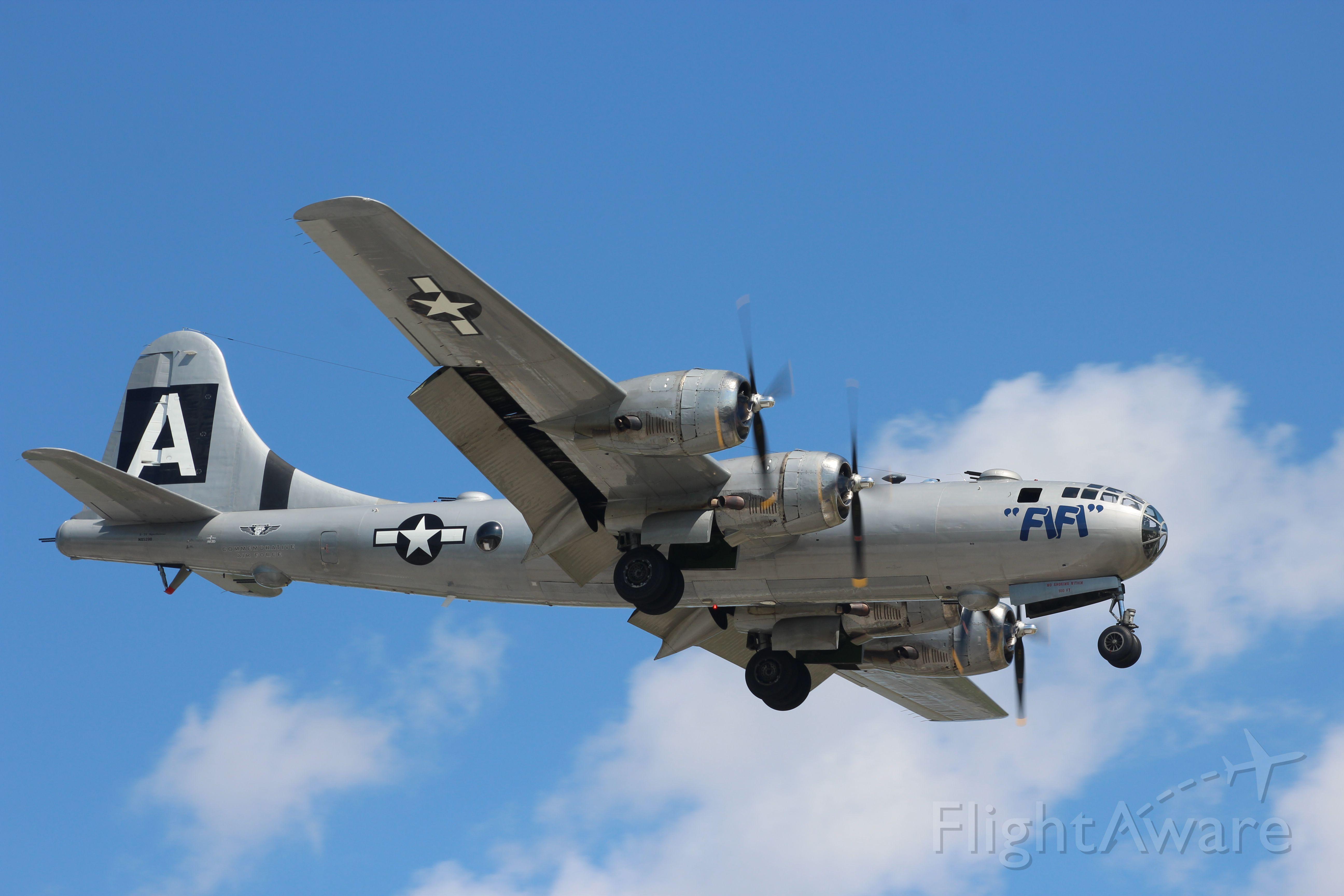 Boeing B-29 Superfortress (N529B) - B-29 Fifi Landing during Pattern Work at Appleton International - EAA Airventure 2016