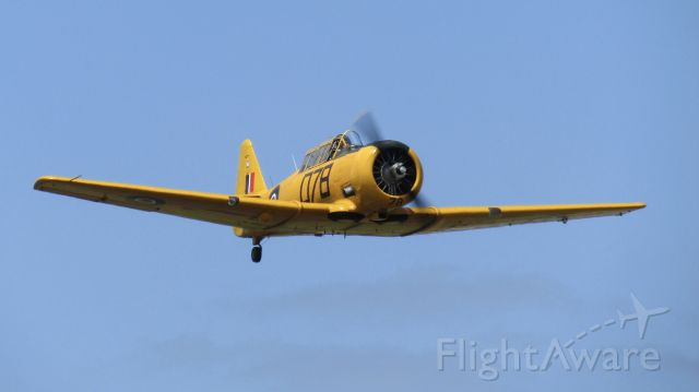 North American T-6 Texan (ZK-ENG) - ENG making some noise with some display rehearsals prior to Warbirds on Display.