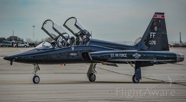 Northrop T-38 Talon (6413176) - One of 9 T-38s that took shelter at Rickenbacker to avoid damage from Hurricane Matthew. Seen here taxiing out to go back home to Langley AFB.