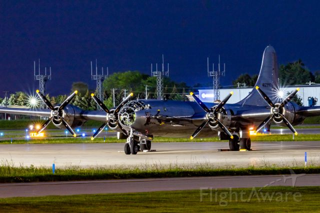 Boeing B-29 Superfortress (46-9972) - Doc, a B29 Superfortress sits at the ramp at KGRR