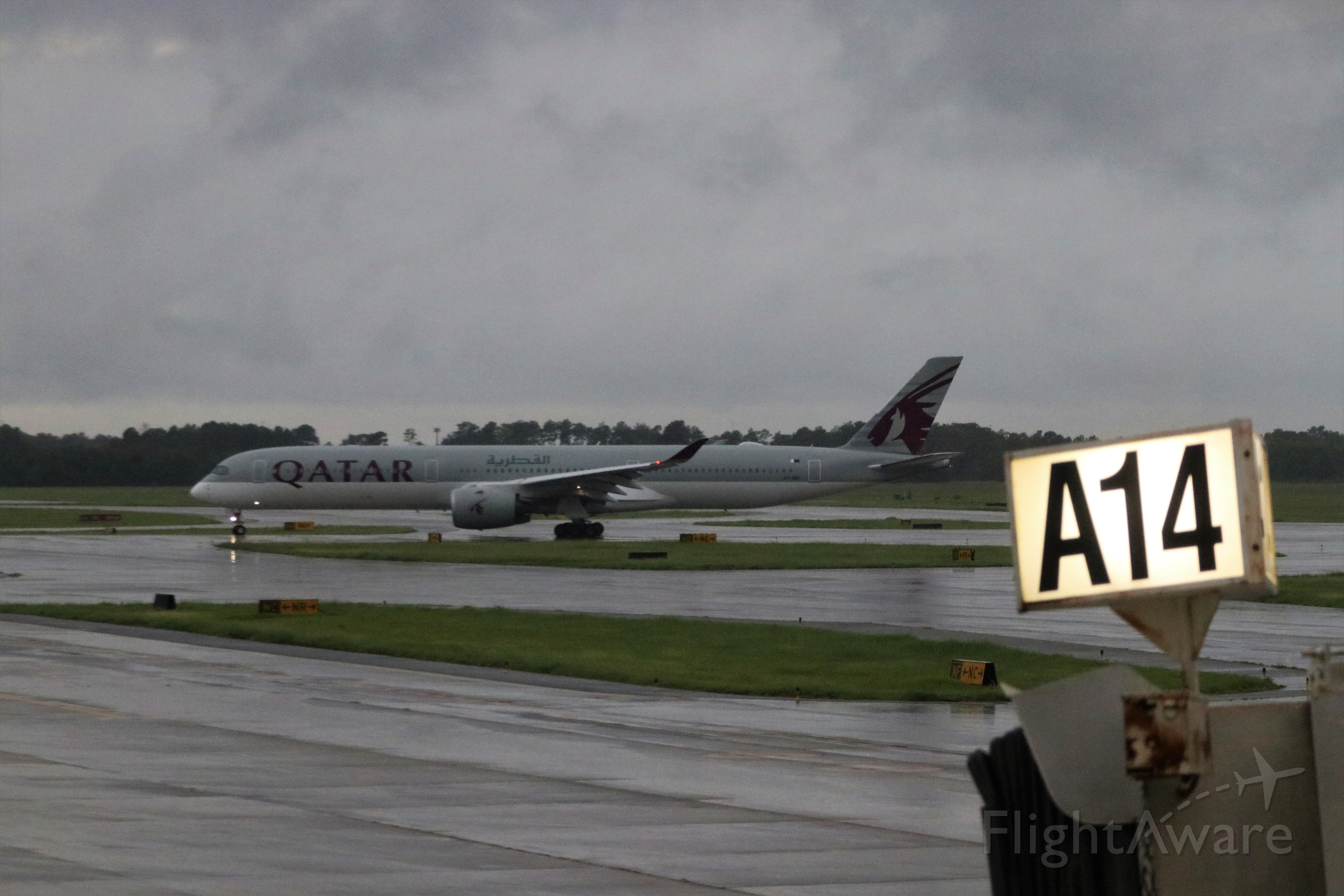 Airbus A350-1000 (A7-ANE) - 9/17/19 taxiing outbound