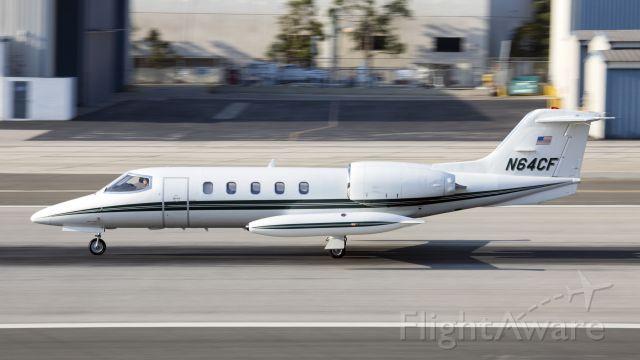 Learjet 35 (N64CF) - Taken from the Santa Monica Airport Observation Deck