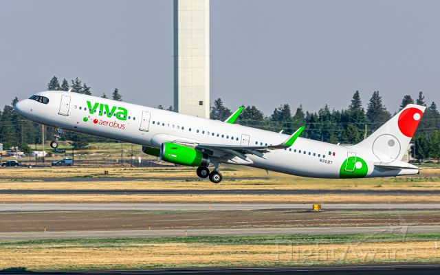 Airbus A321 (N901JT) - XA-VBN leaving Spokane after being repainted. This aircraft was was not taken up by jetBlue.