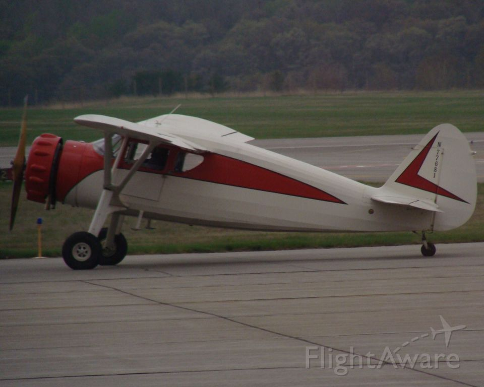N77681 — - Fairchild N77681 (Fairchild 24W-46) taxiing for runup and takeoff on Rwy 5