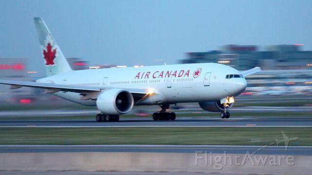 BOEING 777-200LR (C-FIUJ) - Boeing B777-200LR on takeoff roll, runway 23 at Toronto Pearson