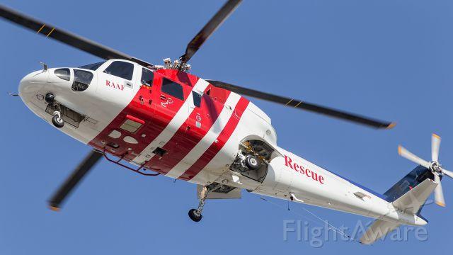 — — - RAAF, Rescue Chopper approaches YBTL.