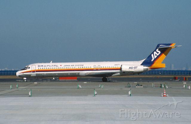 McDonnell Douglas MD-87 (JA8371) - Taxing at Tokyo-Haneda Intl Airport on 2003/02/21