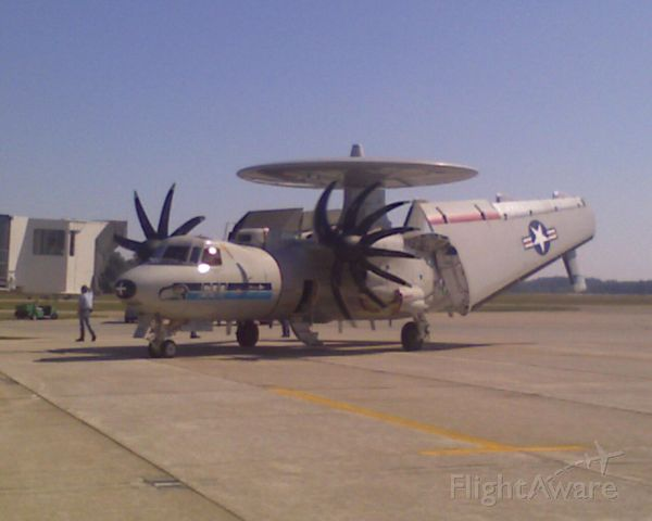 — — - E-2C Hawkeye stopped by for a visit.  Engine was running when photo was taken.