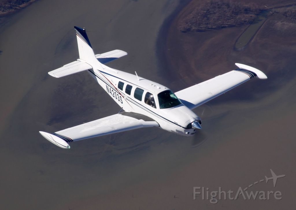 Beechcraft Bonanza (36) (N4203S) - Over southern KS, enroute to Beaumont, KS for a Saturday lunch