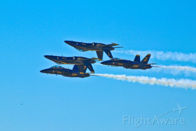 — — - Blue Angels at Alliance Airshow.
