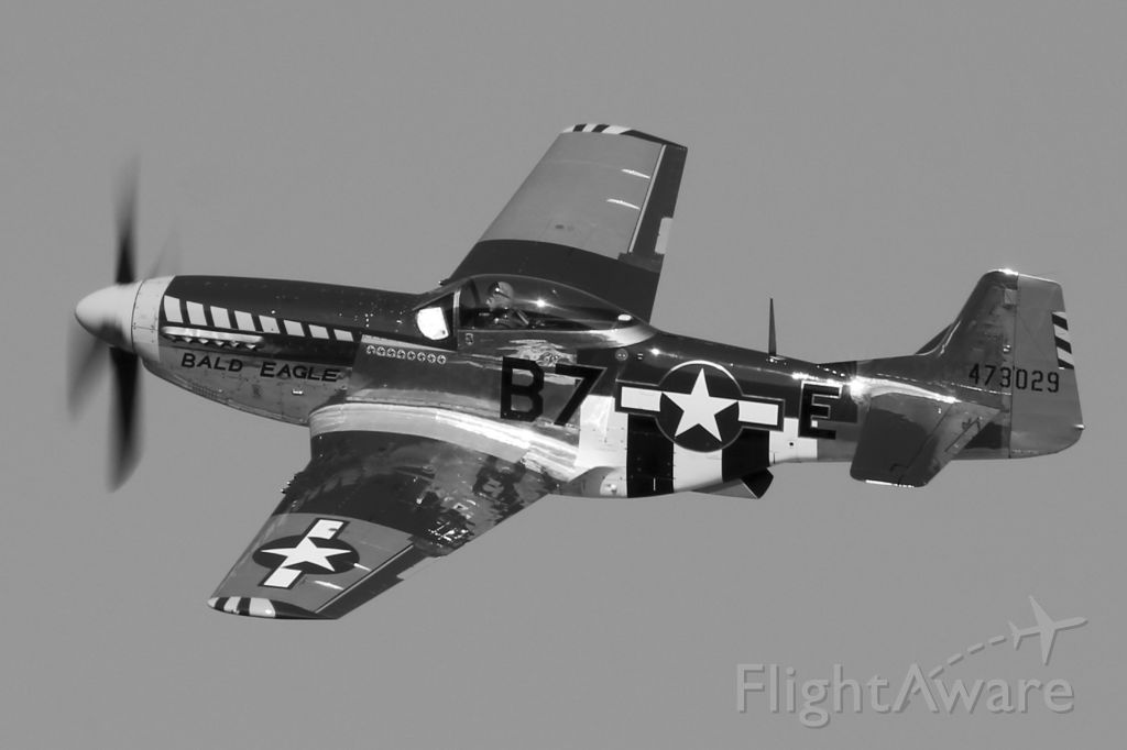 "North American P-51 Mustang (N51JB) - P-51D Mustang ""Bald Eagle"" (N51JB, c/n 44-73029-A) at AirShow London 2017 on 23 Sept 2017."