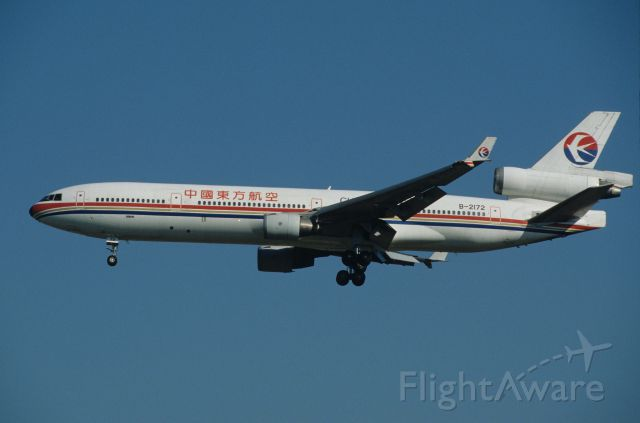 Boeing MD-11 (B-2172) - Final Approach to Narita Intl Airport Rwy34L on 1996/12/21