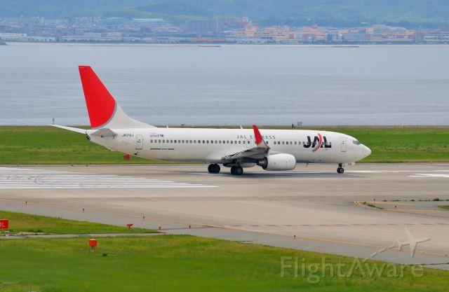 Boeing 737-800 (JA316J) - Airline: Japan Airlines (JL/JAL); Airport: Kansai International Airport (KIX/RJBB); Camera: Nikon D7000; Date: 4 July 2012