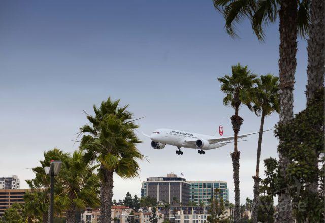 Boeing Dreamliner (Srs.8) (JA827J) - Dreamliner about land in San Diego.