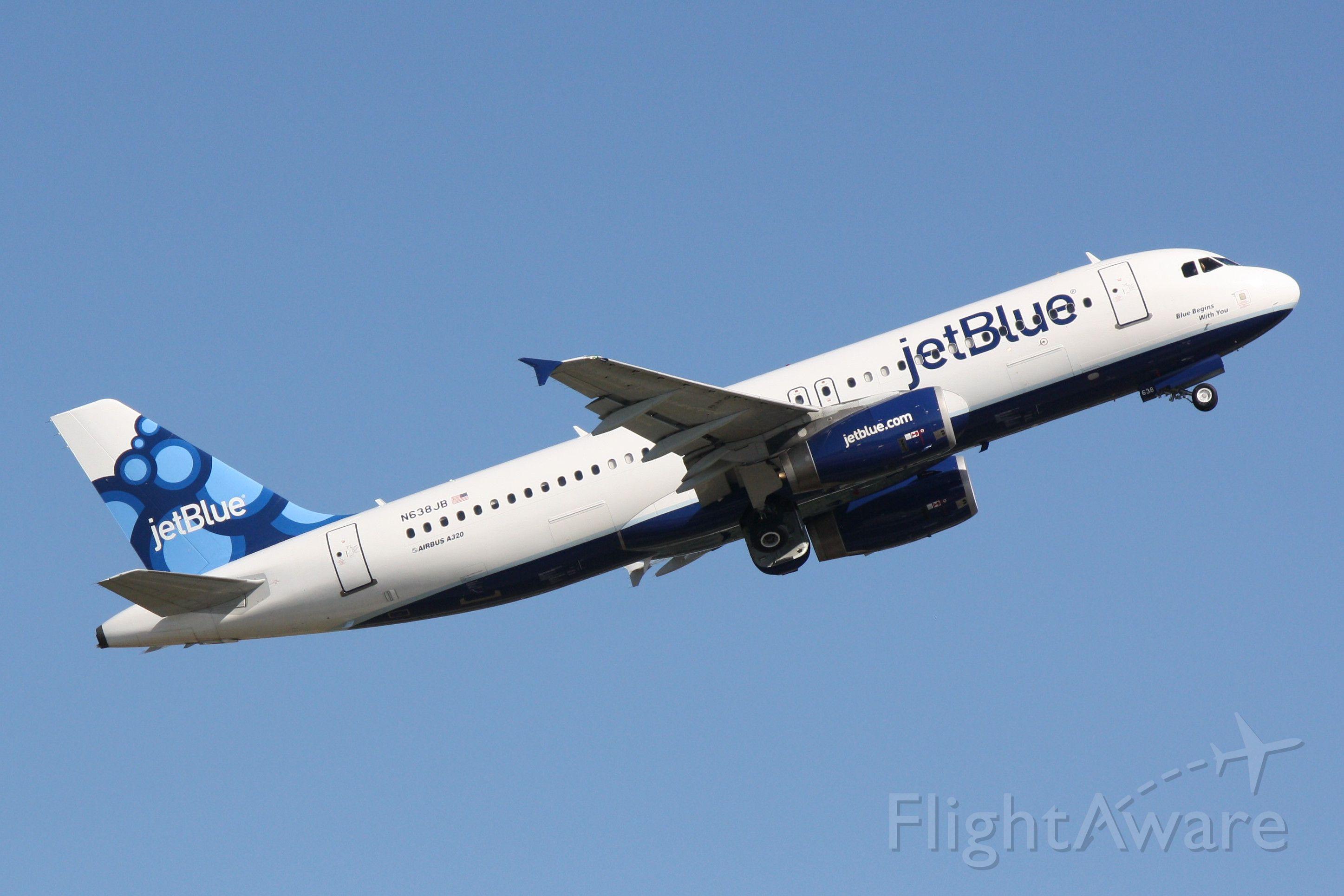 "Airbus A320 (N638JB) - JetBlue Flight 164 (N638JB) ""Blue Begins With You"" departs Sarasota-Bradenton International Airport enroute to John F Kennedy International Airport"