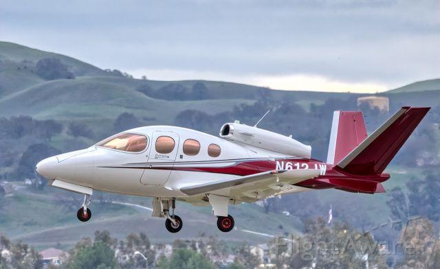 Cirrus Vision SF50 (N612JW) - Cirrus SF50 departs Livermore Municipal Airport (CA). February 2021