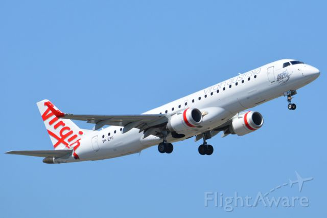 Embraer ERJ-190 (VH-ZPQ) - Getting airborne off runway 23 and heading to Perth. Thursday March 6th 2014.