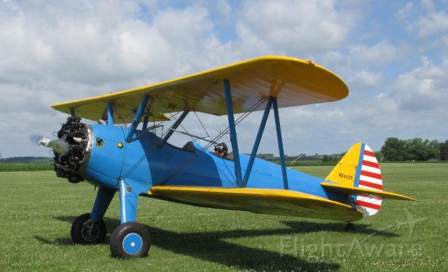 Boeing PT-17 Kaydet (N56439) - A 1941 PT-17 Stearman at the 2015 Fathers Day breakfast fly-in at Stanton MN