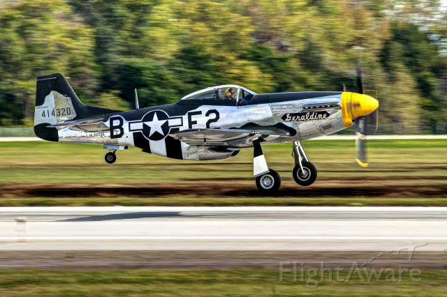 """North American P-51 Mustang (N5500S) - P-51 """"Geraldine"""" on the takeoff roll at the Gathering of Mustangs and Legends."""