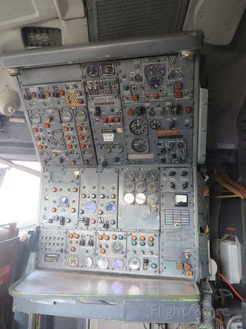 — — - Ex-FedEx 727 Flight Engineer Panel at Museum of Flight, Los Angeles