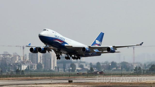 Boeing 747-400 (4KSW008) - 14/04/2018: Boeing 747 cargo, lift-off en-route to Baku.