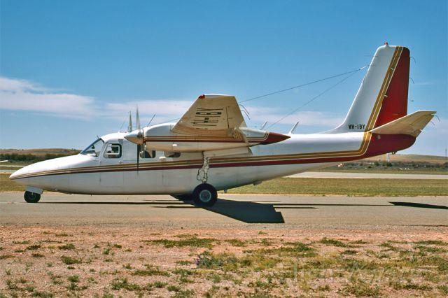 Cessna Centurion (VH-IBY) - AERO COMMANDER 500S SHRIKE COMMANDER - REG : VH-IBY (CN 3057) - BROKEN HILL NSW. AUSTRALIA - YBHI (5/11/1978) 35MM SLIDE SCANNED WITH A EPSON PERFECTION V700 FLATBED SCANNER.