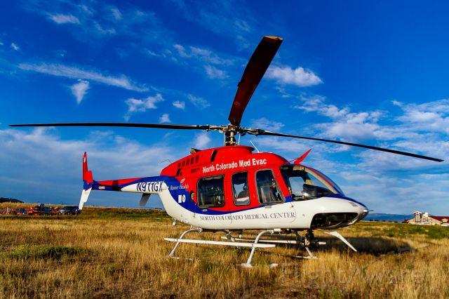Bell 407 (N911GX) - Waiting with N912GX to escort Northern Colorado Honor Flight #21, 9/9/2018.