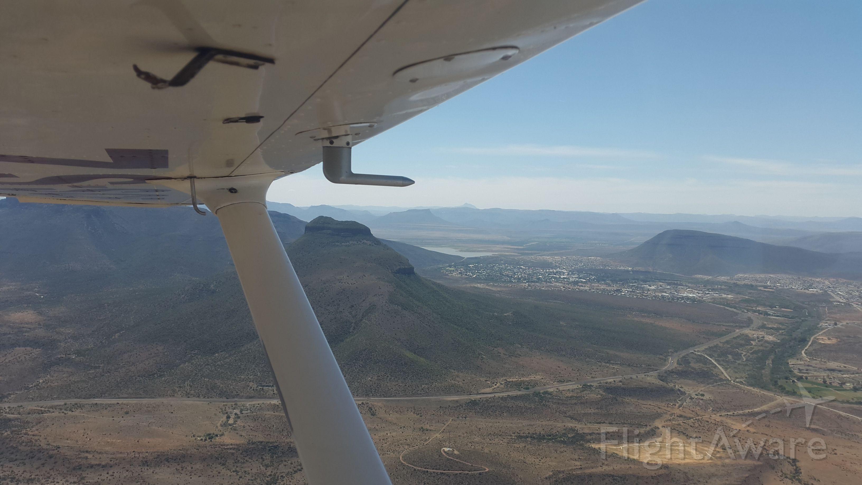 Cessna Skyhawk (ZS-SCE) - On approach to Graaff-Reinet airfield FARG after a flight from Cape Town to the Karoo desert