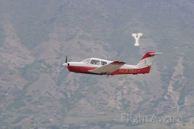 """Piper Arrow 4 (N2919U) - """"Kokopeli"""" Arrow departing provo after approach and touch n go. They sucked the gear up early for a hot rod straight out departure back to South Valley (U42) br /Best viewed in full!"""