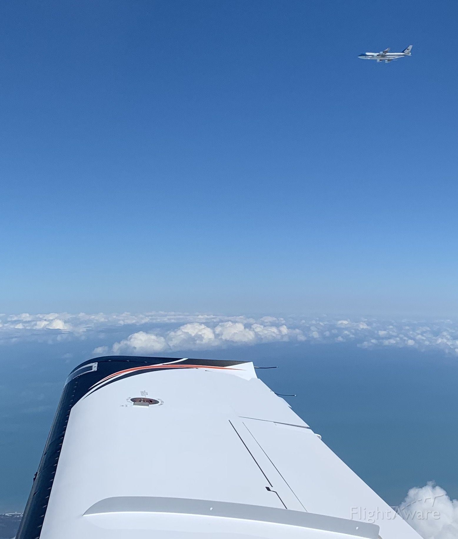 Socata TBM-850 (N37TC) - AF1 passing off my right side enroute from pbi to dab on 2/16/20 around 12:40pm