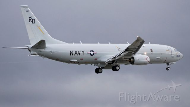 Boeing P-8 Poseidon (16-9331) - A U.S. Navy P8-A Poseidon (ser#169331 / ln 6356 / cn 62297) on final to Rwy 16R for a touch/go landing on 11.16.17. The aircraft is attached to VP-47 based at NAS Whidbey Island, WA.