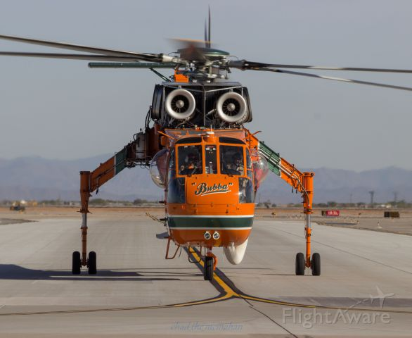 Sikorsky CH-54 Tarhe (N163AC) - Erickson Air crane taxiing to the south ramp after a long days work.