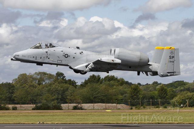 Fairchild-Republic Thunderbolt 2 (82-0649) - [cn.A10-0697]. USA Air Force Fairchild A-10 Thunderbolt II 82-0649 low levell runway heading pass at RAF Fairford.